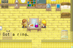 Harvest Moon - More Friends of Mineral Town - I got a ring from Cliff!!!! XD - User Screenshot